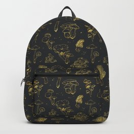 Golden mushrooms Backpack