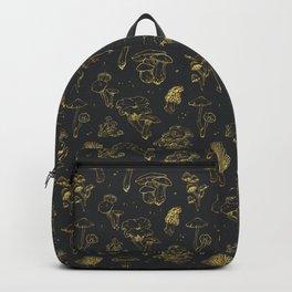 Golden mushrooms Backpack