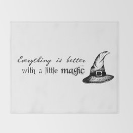 Just a little magic Throw Blanket