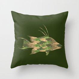 Scuba Deb's Camo Hogfish Throw Pillow