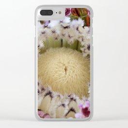 Fur Coat Protea Clear iPhone Case