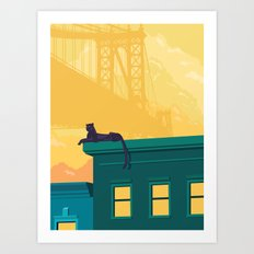 Urban jaguar Art Print