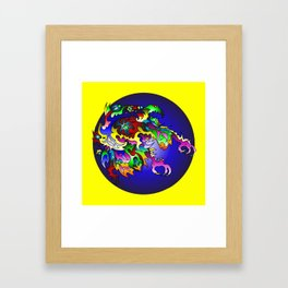 Unkowning Bluecircle Framed Art Print