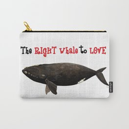 The right whale to love Carry-All Pouch