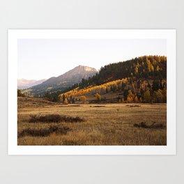 Mountain Valley Morning Light Art Print