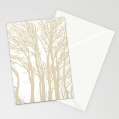 Beige Trees Stationery Cards