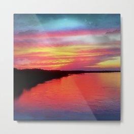Sunset on the Missouri Metal Print