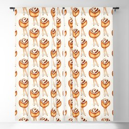 Cinnamon Roll Pin-Up  Blackout Curtain