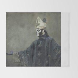 Ghost - Papa Emeritus III Throw Blanket