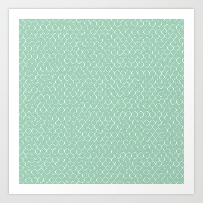 Chicken Wire Mint Art Print by projectm | Society6