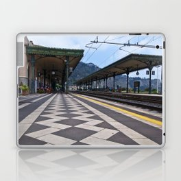 Train Station of Giardini Naxos on the Isle of Sicily - The Godfather Laptop & iPad Skin