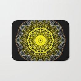 Yellow black design Bath Mat