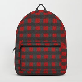 Antiallergenic Hand Knitted Red Grid Winter Wool Pattern - Mix & Match with Simplicty of life Backpack
