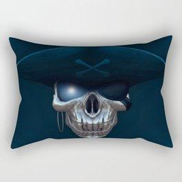 Pirate skull with glowing blue eyes Rectangular Pillow