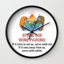 Stone Age Wine Pairing Wall Clock