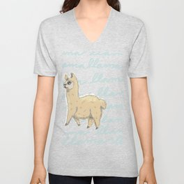 Llama Be My Best Unisex V-Neck