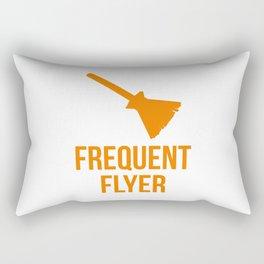 Frequent Flyer Witch Halloween Broom Rectangular Pillow