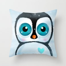 Joc the Penguin Throw Pillow