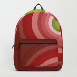 Beetroot Pink Circles Backpack