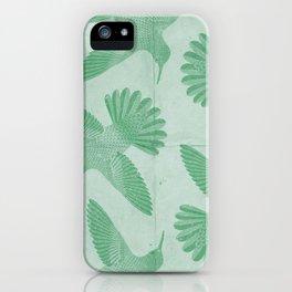 Hummingbird Pattern iPhone Case