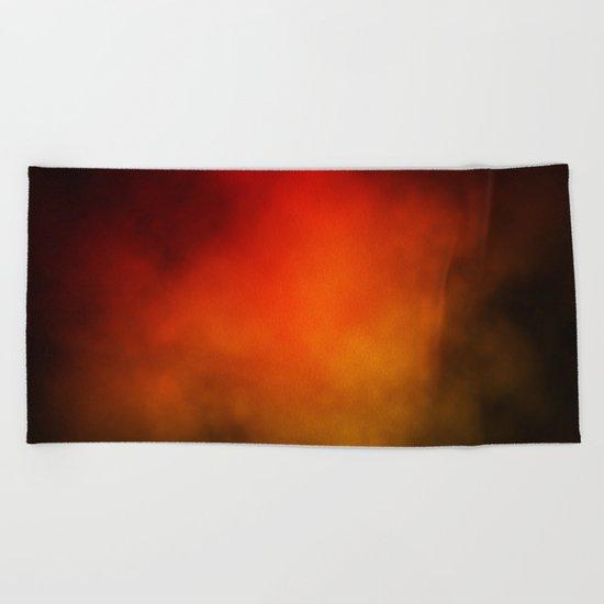 Red-Orange Nebula Beach Towel