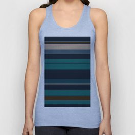 minimalistic horizontal stripes pattern hbi Unisex Tank Top