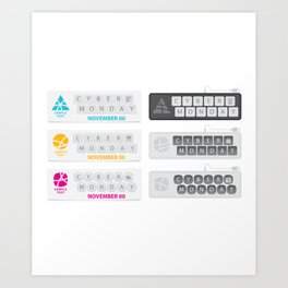 November Cyber Monday Keyboard Art Print