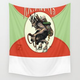 """Here Comes Krampus"" Wall Tapestry"