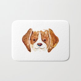 Smiley Beagle Bath Mat
