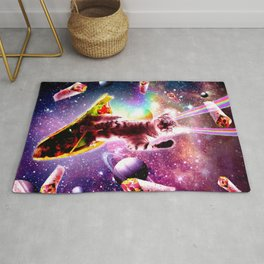 Outer Space Taco Cat - Rainbow Laser Eyes, Burrito Rug
