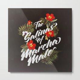 The Salinas of Marchamalo / Tropical Print Metal Print