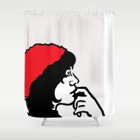 libra Shower Curtains featuring Libra by Bree Stillwell Craft