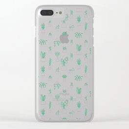 Neon Plants Clear iPhone Case