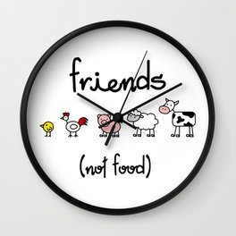 Friends (not food) Wall Clock