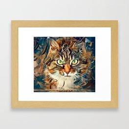 Cats Popart by Nico Bielow Framed Art Print