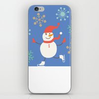 snowman iPhone & iPod Skins featuring Snowman by Mr and Mrs Quirynen