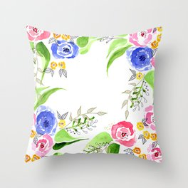 Bouquet of roses by Gosia&Helena Throw Pillow