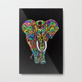 Cosmic elephant love Metal Print