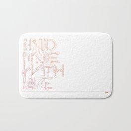 Hand Made With Love Bath Mat