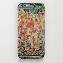 Brussels Manufactory - The Story of Troy. The Pardon of Helen (1515 - 1525) iPhone Case