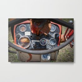 Farmall 560 Operator Station Red Tractor Dashboard Gages  Metal Print