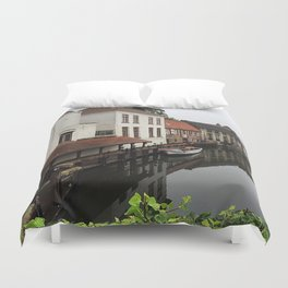 Canal in Brugge Duvet Cover