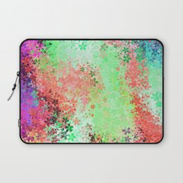 flower pattern abstract background in green pink purple blue Laptop Sleeve