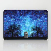 fandom iPad Cases featuring Lonely Tardis Doctor who Art painting iPhone 4 4s 5 5c 6, pillow case, mugs and tshirt by Three Second