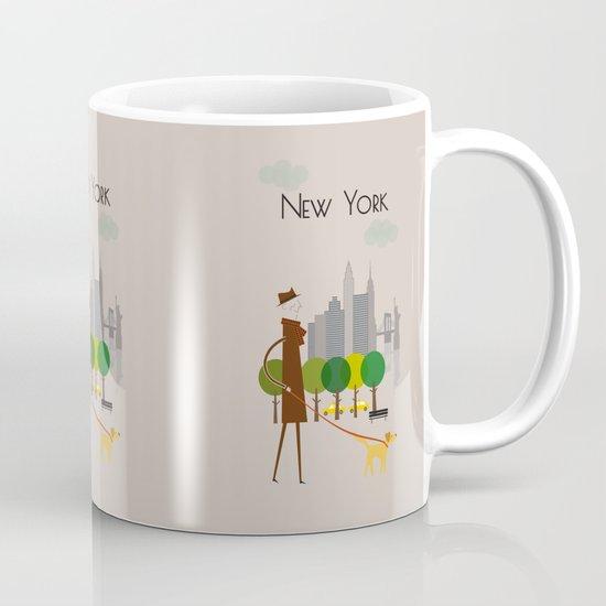 New York - In the City - Retro Travel Poster Design Mug