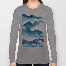 Mountain blue Long Sleeve T-shirt