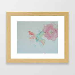 Hungry Hummingbird Framed Art Print