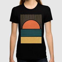 Sun Beach Stripes - Mid Century Modern Abstract T-shirt