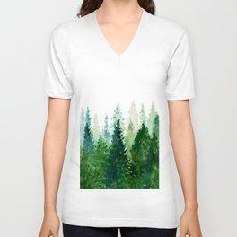 Pine Trees 2 Unisex V-Neck