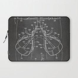 Rock Climbing Harness Patent - Rock Climber Art - Black Chalkboard Laptop Sleeve